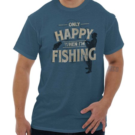 Tamiami Fishing Shirt - Only Happy When Fishing Fisherman Angler T Shirt Tee