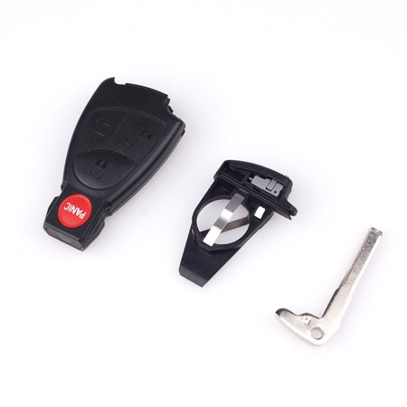 3 Button + Panic Remote Keyless Smart Key Fob Case Shell For Mercedes Benz