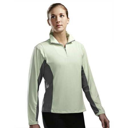 - Tri-Mountain Performance DASH 621 Polyester Zip Pullover Shirt, 2X-Large, Apple/Gray