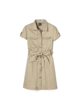 French Toast Girls 4-14 School Uniform Short Sleeve Safari Dress