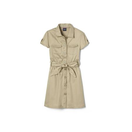 French Toast Girls 4-14 School Uniform Short Sleeve Safari Dress