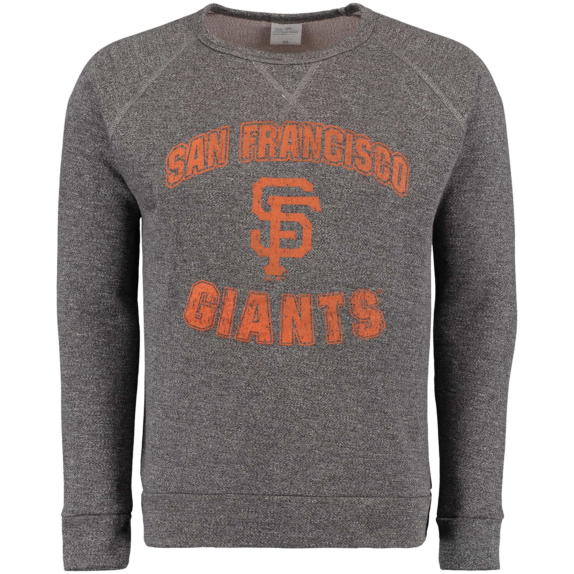 San Francisco Giants Majestic Threads Team Favorite French Terry Raglan Sleeve Sweatshirt - Black