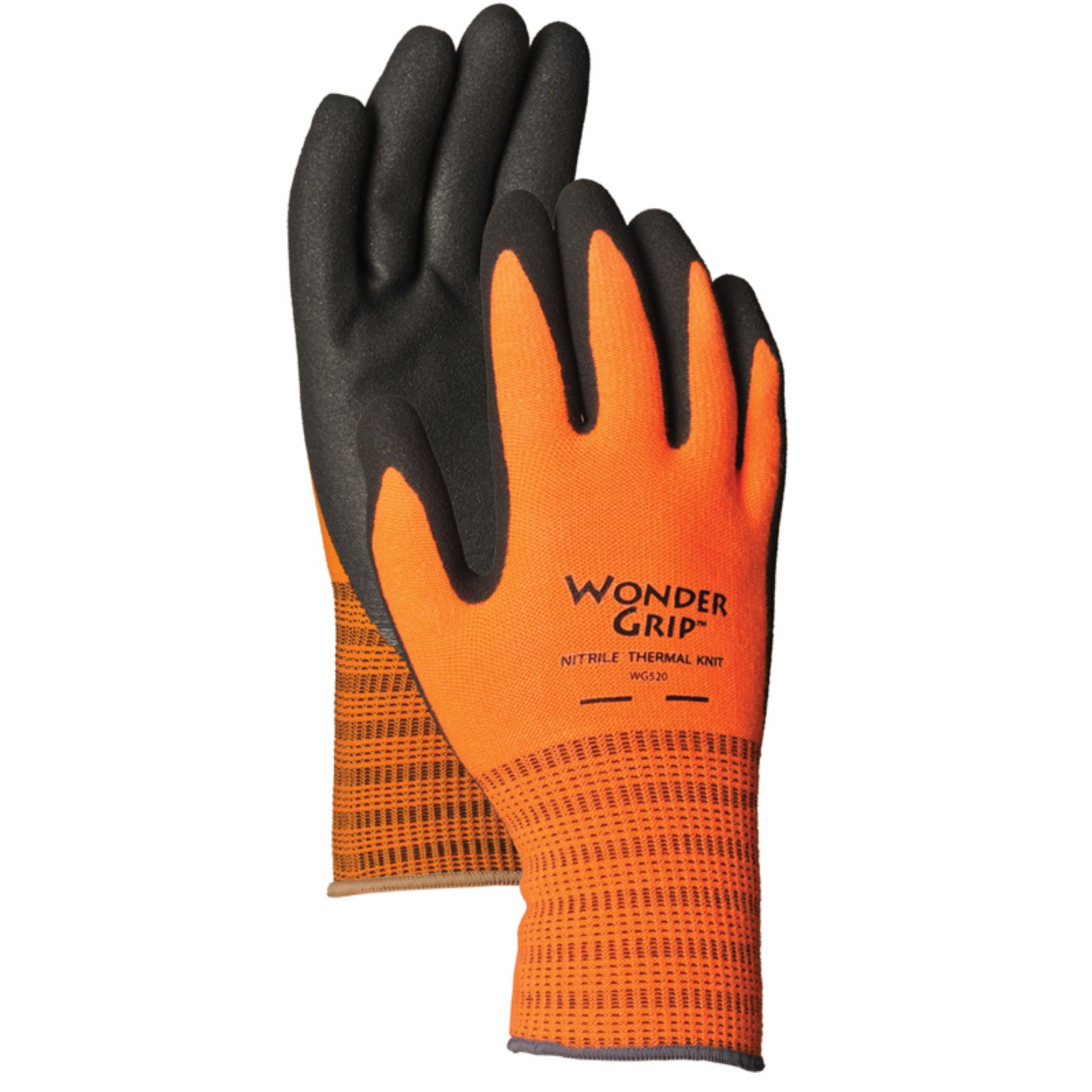LFS Medium Wonder Grip High Visibility Nitrile Palm Gloves