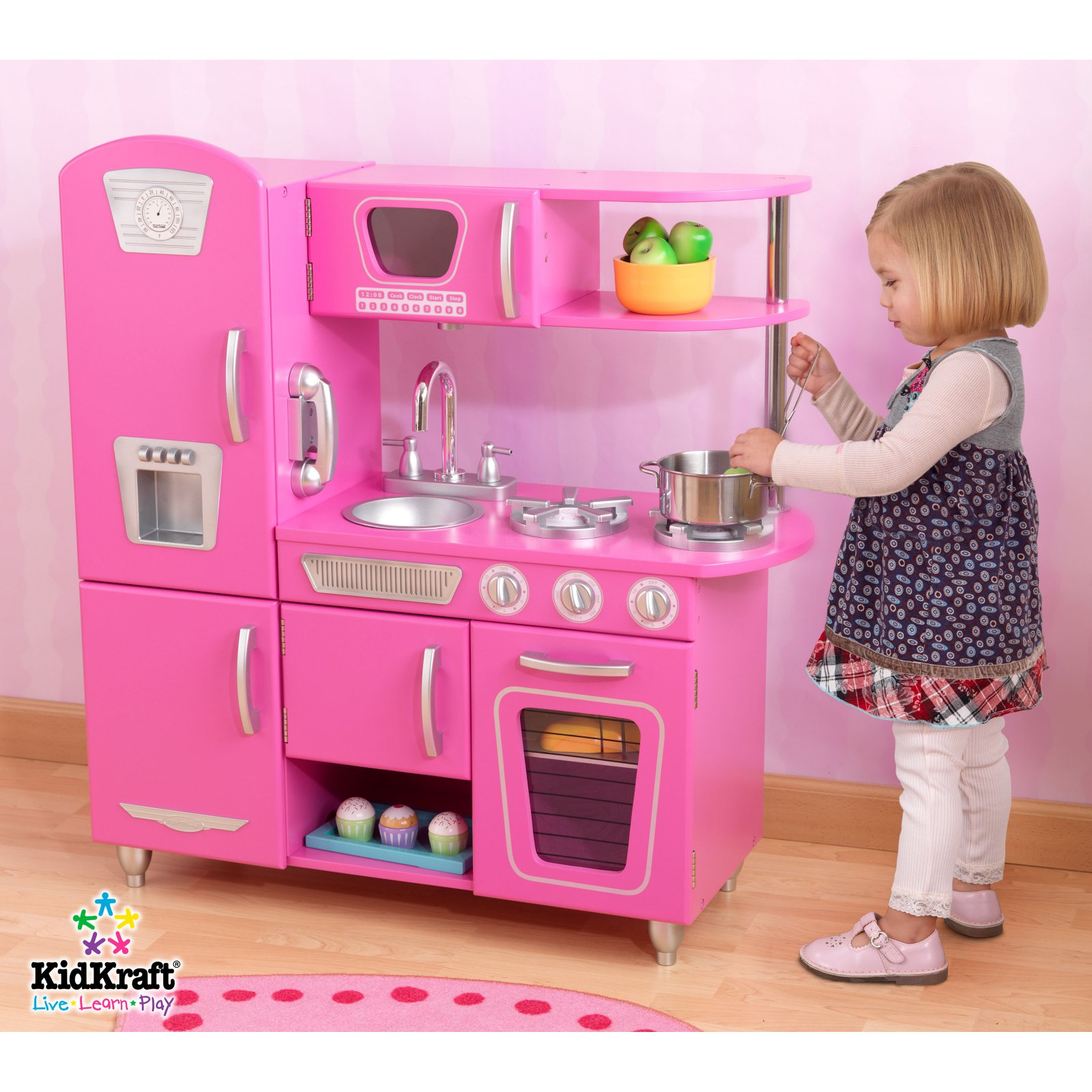 KidKraft Bubblegum Vintage Kitchen 53220 by KidKraft