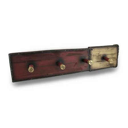 Wooden Shotgun Shells Decorative Hanging Wall Hook Plaque thumbnail