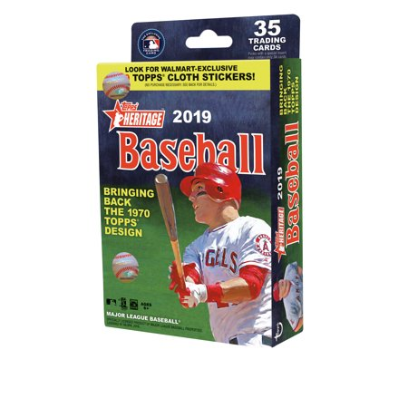 2019 Topps Heritage MLB Baseball Hanger Box- Limited Edition Cloth Decal Stickers of 190