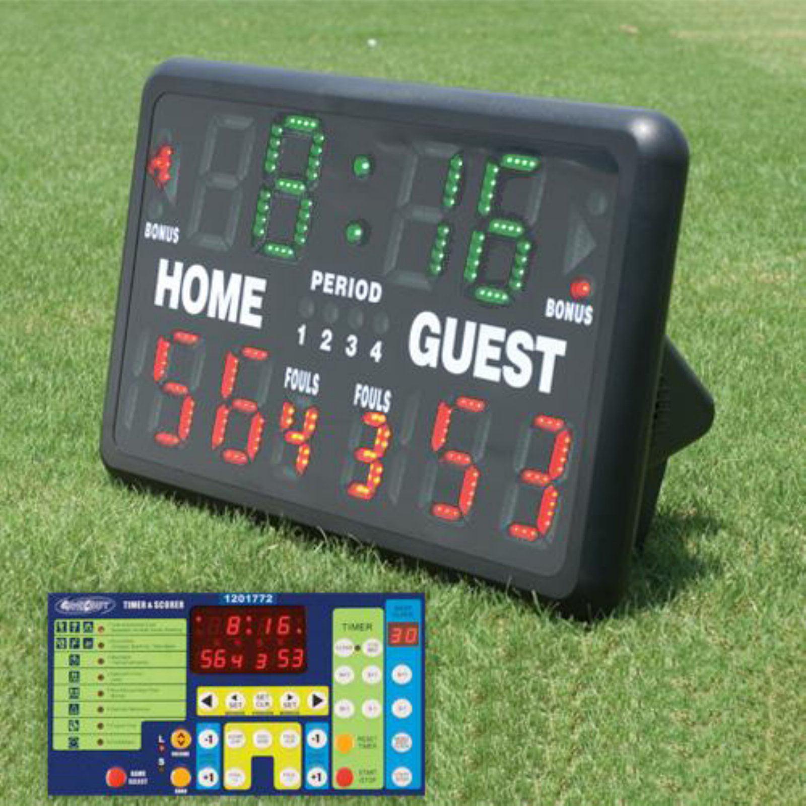 Indoor/Outdoor Tabletop Scoreboard (w/ Remote)