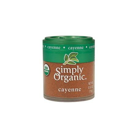 - Simply Organic Ground Cayenne, 0.53 Oz