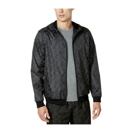 Ideology Mens Reflective Printed Windbreaker Jacket deepblack S - image 1 de 1
