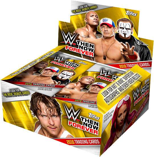 WWE Wrestling 2016 WWE Then Now Forever Trading Card Hobby Box