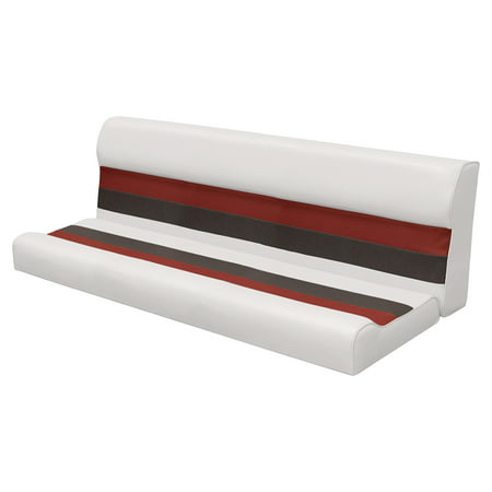 """Wise (8WD106-1009) 8WD106-1009 Deluxe Series Pontoon 55"""" Bench Seat and Backrest Cushion Set Only, Color: White/Red/Charcoal"""