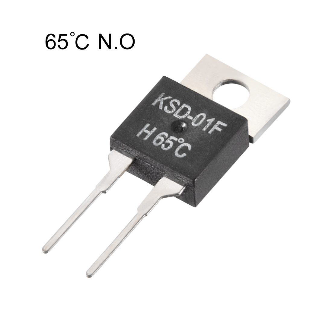 KSD-01F Thermostat, Temperature Controller 65鈩?N.O Normal Open 5pcs - image 2 of 3