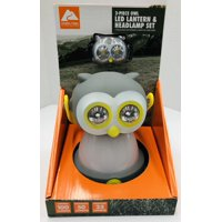 Ozark Trail Owl Led Lantern & Headlamp Combo, Includes 2 CR2032 Button Cell And 3 AA Deracell Alkaline Batteries