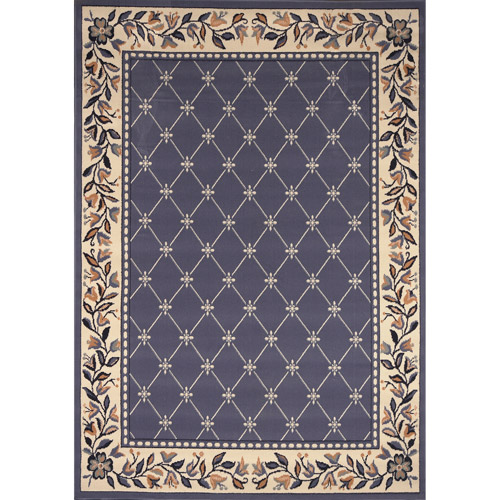 Home Dynamix Premium Traditional Olefin Rug, Country Blue