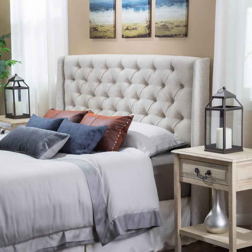 Denise Austin Home Kingston Tufted Fabric Headboard