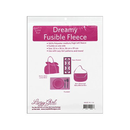 Lazy Girl Designs Dreamy Fleece 22x36 Fusible