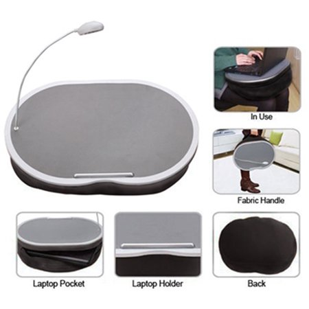 Miraculous Portable Lap Desk With Led Lamp 18 X 15 Handy Zippered Storage For Laptop Computer Adjustable Led Work Light Light Weight Travel Workstation Home Interior And Landscaping Ologienasavecom
