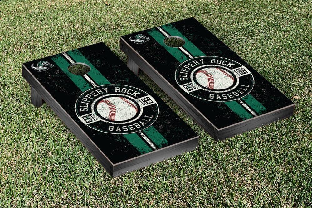 Slippery Rock PennSylvania Regulation Cornhole Game Set Baseball Vintage Version by Victory Tailgate