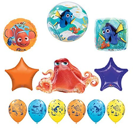 12 pc Finding Dory Nemo and Hank Birthday Party Balloon supplies decorations (Nemo Pinata)