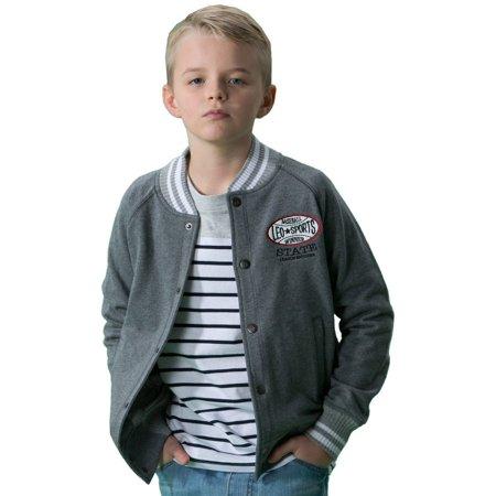 Leo&Lily Big Boys' fleece casual blazer jacket baseball Jacket