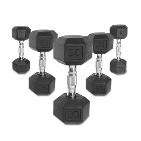 CAP Barbell Rubber Hex Dumbbell Set (Cap Barbell Set)