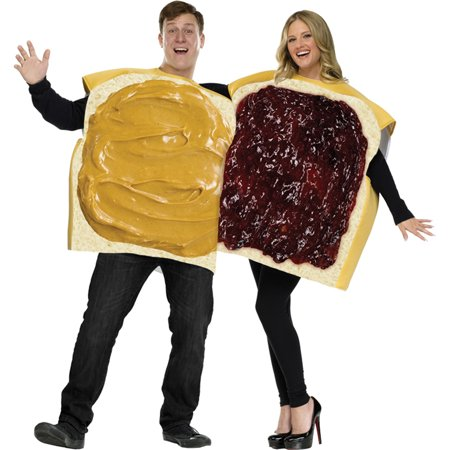 Morris Costumes Peanut Butter/Jelly Couple Cos, Style, FW130924 - Peanut Butter And Jelly Couple Costume