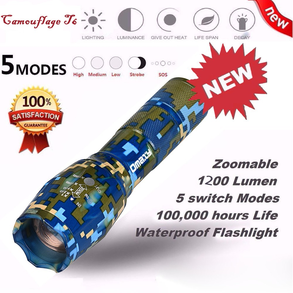 Super Bright X800 Tactical Flashlight LED Zoom Military Torch G700