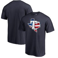 Texas Rangers Fanatics Branded 2019 Stars & Stripes Banner State T-Shirt - Navy