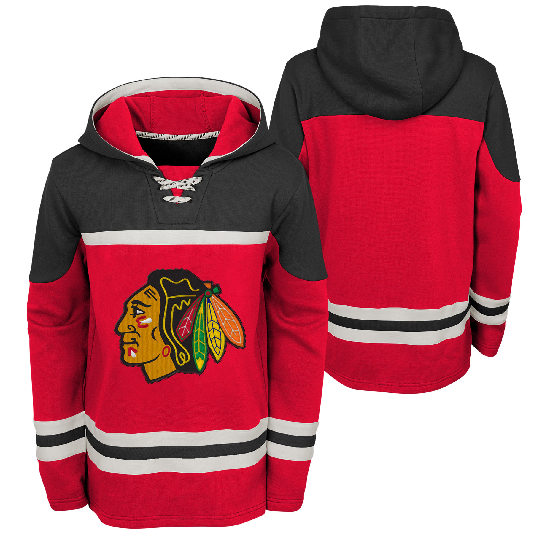 Outerstuff Youth Chicago Blackhawks NHL Asset Hockey Hoodie
