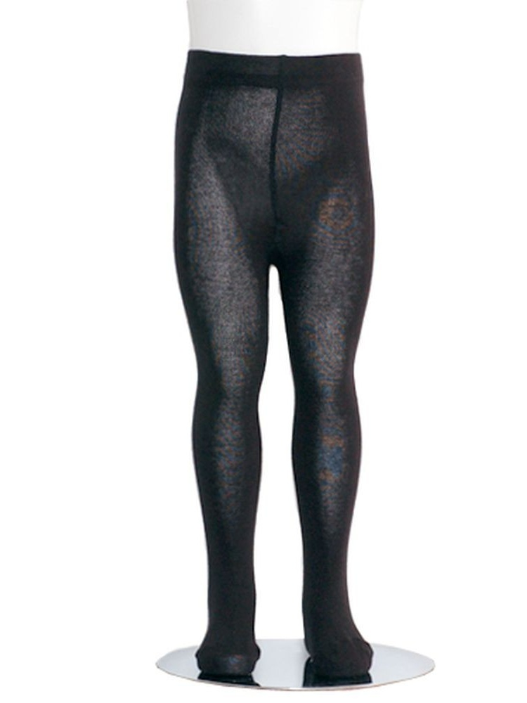 Black Piccolo Heavyweight Opaque Toddler Little Girls Tights 2T-16