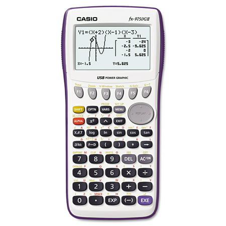 Casio FX-9750GII Graphing Calculator, Icon Based