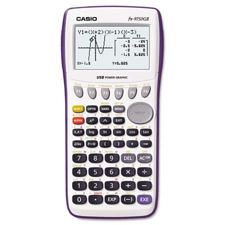 Casio FX-9750GII Graphing Calculator, Icon Based