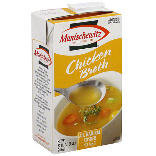 Manischewitz Chicken Broth, 32 oz (Pack of 12)