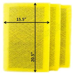 - Pristine Air Cleaner Replacement Filter Pads 17x23 Refills (3 Pack)