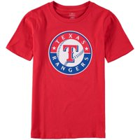 Texas Rangers Youth Primary Logo T-Shirt - Red