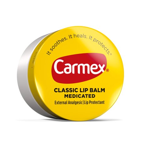 4 Pack Carmex Original Lip Balm Jars For Dry Chapped Lips .25 Oz (Lip Balm Jar)