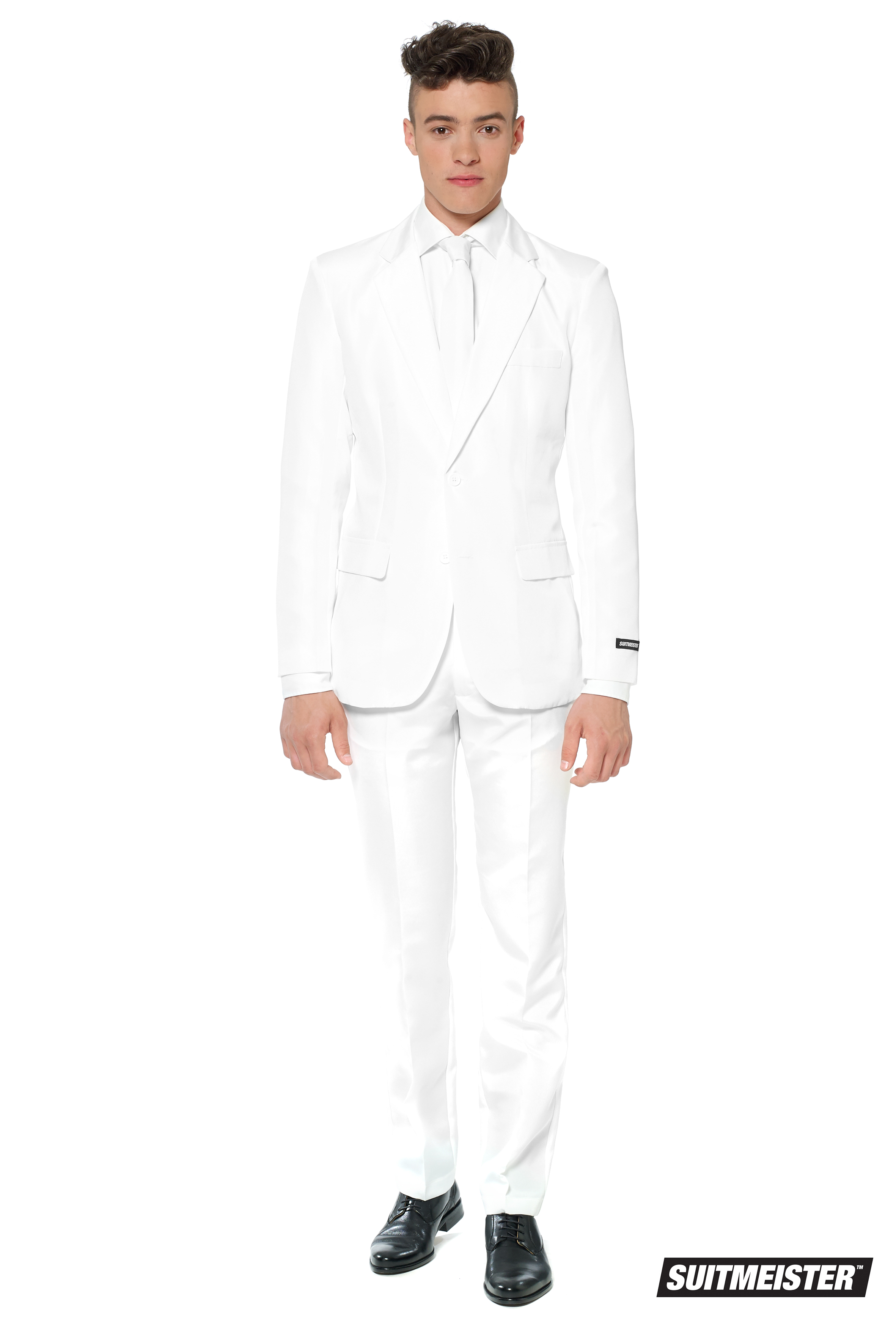 Suitmeister Men's Solid White Solid Suit