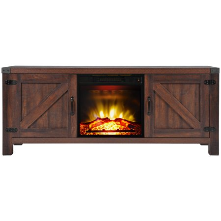 Clearance! SEGMART Electric Fireplaces TV Stands with Electric Fireplace Insert for TVs up to 65