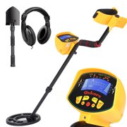 Oxkers Metal Detector High Accuracy Outdoor Gold Digger with Waterproof Sensitive Search Coil, LCD Display for Beginners Professionals, Yellow