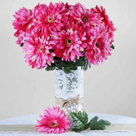 Efavormart 28 Artificial GERBERA Daisy Wedding Flowers Bushes - 10 ...