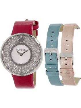 Women's 5096698 Silver Leather Swiss Quartz Watch