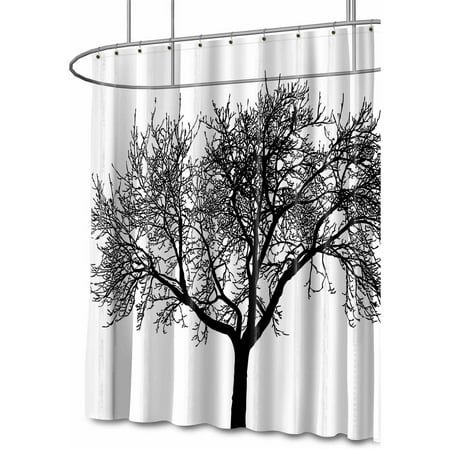 Splash Home High Quality EVA 5G Tree Shower Curtain Liner Design For Bathroom Showers And Bathtubs