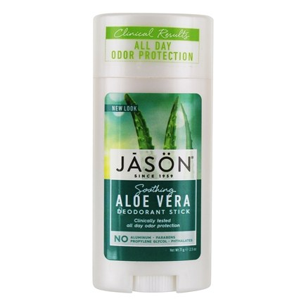 Jason Natural Products - Deodorant Stick Aloe Vera - 2.5 oz. by JASON Natural Products (pack of 4)