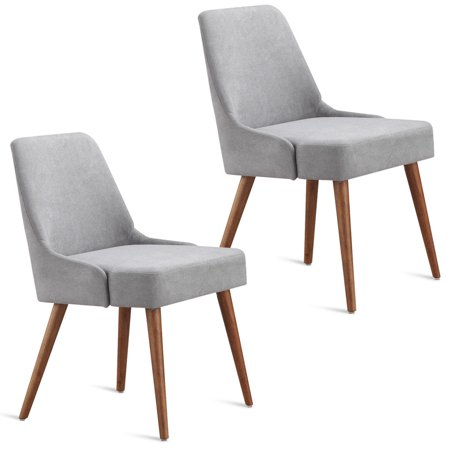 Gymax set of 2 dining chairs modern upholstered tufted - Modern upholstered living room chairs ...