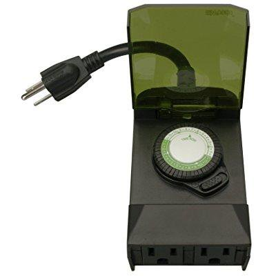 Woods 50011wd Outdoor 24 Hour Mechanical Outlet Timer Box