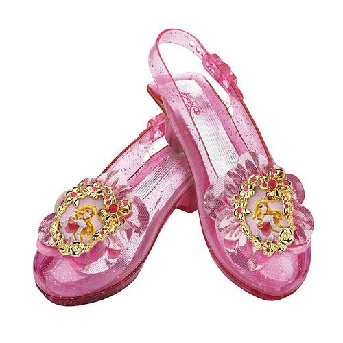 Girls Disney Aurora Sparkle Halloween Shoes Set