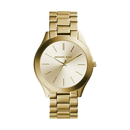 3b378a563817 Michael Kors - Michael Kors Women s Slim Runway Gold-Tone Watch 42mm MK3179  - Walmart.com