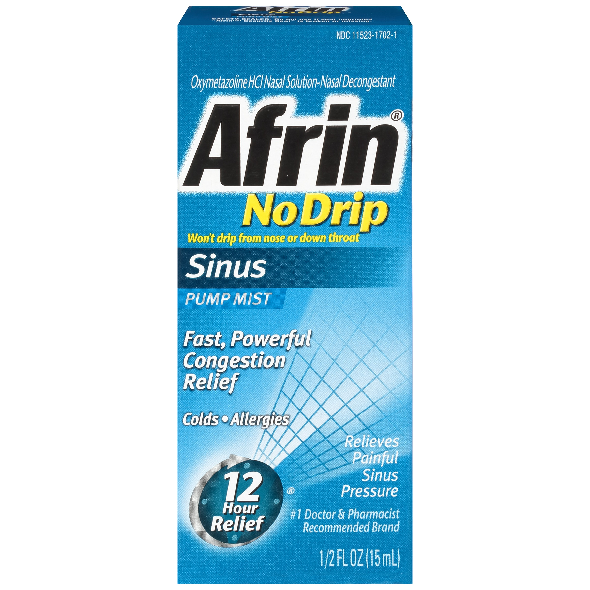 Image of Afrin ® No Drip Allergy Sinus Pump Mist Nasal Decongestant 0.5 fl. oz. Box