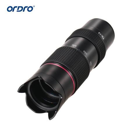 ORDRO TX-13 12X Ultra HD, téléobjectif monoculaire, téléobjectif, objectif K9, enduit FMC Prism pour Smartphone, compatible avec ORDRO HDR-AZ50, HDR-AC3, HDV-D395, appareil photo DV / à utiliser sépar - image 7 de 7