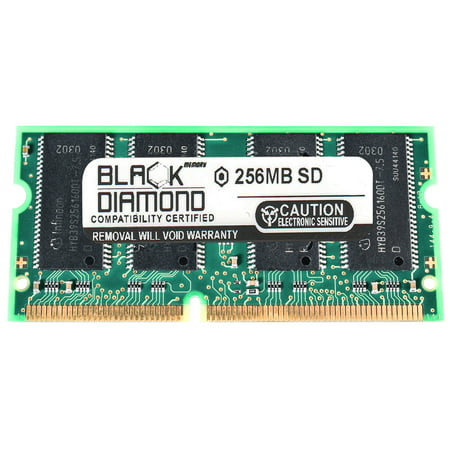 256MB Memory RAM for Fujitsu LifeBook A1010, C1010, C-6387, C-6597, C-6637 144pin PC133 133MHz SDRAM SO-DIMM Black Diamond Memory Module Upgrade